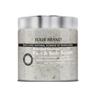 Private Label Activated Charcoal Face And Body Scrub Manufacturer