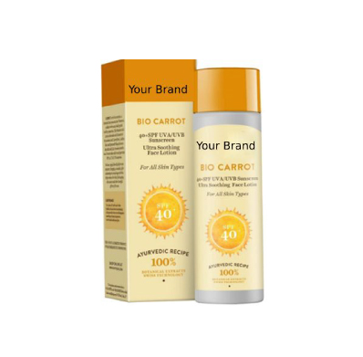 Private Label Carrot Sun Lotion Manufacturer